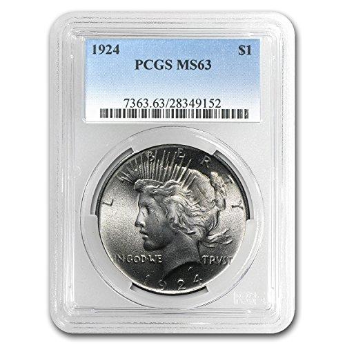 1924 Peace Dollar MS-63 PCGS $1 MS-63 PCGS (Peace Dollar Pcgs)