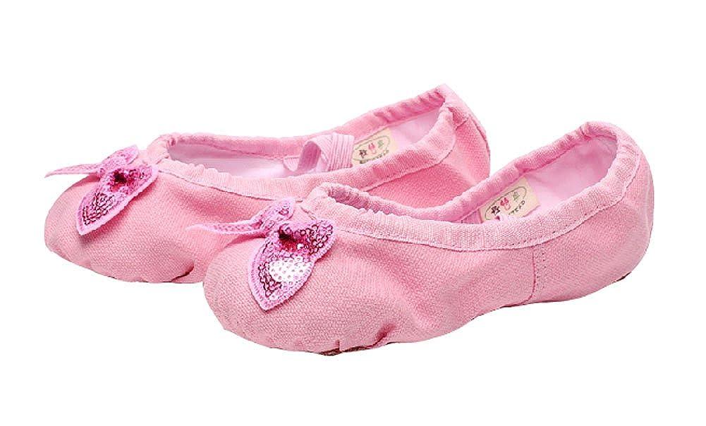 Pink Dance Class Ballet Shoes//Canva Dance Shoes for Pretty Girl 21.5CM Length