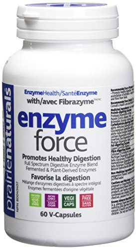 - Prairie Naturals Force with Fibrazyme Digestive Enzyme Vegetarian Capsules, 60 Count