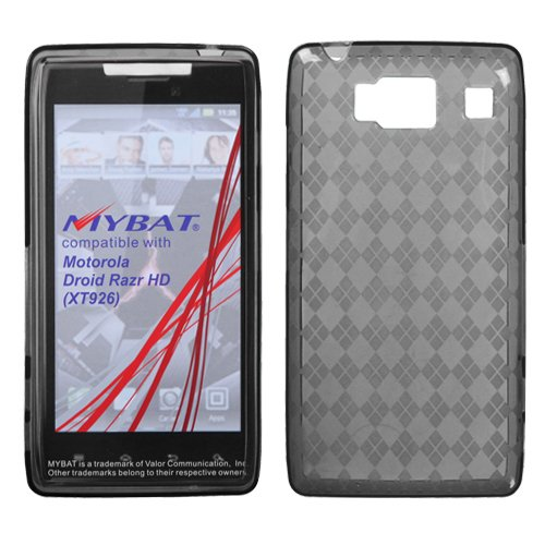 Smoke Clear Argyle Candy Rubber Tpu Soft Case - Cell Phone Covers Razor Max