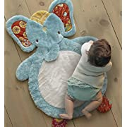 Levtex Home Baby Zahara Fox Playmat, White/Aqua