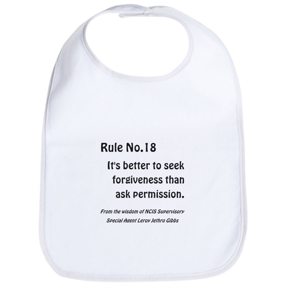 Amazon.com: CafePress - RULE NO. 18 Baby Bib - Cute Cloth ...