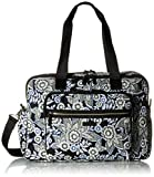 Vera Bradley Women's Iconic Deluxe Weekender Travel Bag-Signature, Snow Lotus, One Size