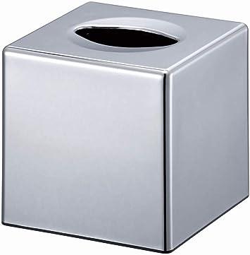 VINN DUNN BESPOKE Porte-mouchoirs en forme de cube chrom/é miroir carr/é pour porte-serviettes Kleenex Organiseur de salle de bain