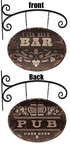 Cartel brazo de hierro placa Pub/Bar 54 x 54 x 1 cm: Amazon ...