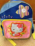 Blue Kitty Girl's Backpack – Toddler Size Kitty Backpack, Outdoor Stuffs