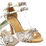Women's Ballroom Dance Shoes Tango Wedding Salsa Dance Shoes Cobra Sera7005ESSEB Comfortable - Very Fine 2.5'' Heel 7.5 M US [Bundle of 5]