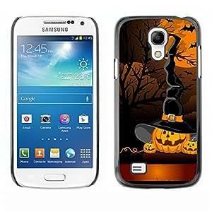 TopCaseStore / la caja del caucho duro de la cubierta de protección de la piel - Pumpkin Cartoon Orange - Samsung Galaxy S4 Mini i9190 MINI VERSION!