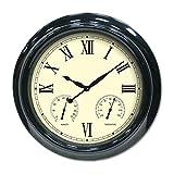 Poolmaster 52558 18'' Clock/Thermometer/Hygrometer - Black