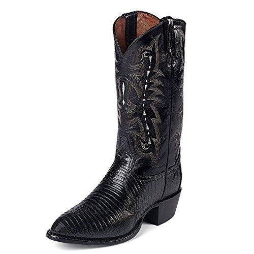 Boots Lama Cowgirl Tony - Tony Lama Men's Felton BLACK3 Height (CZ810) | Foot Black Lizard | Pullon Western Boots | Black Cowboy Leather Boot | Handcrafted in The USA (D 11)