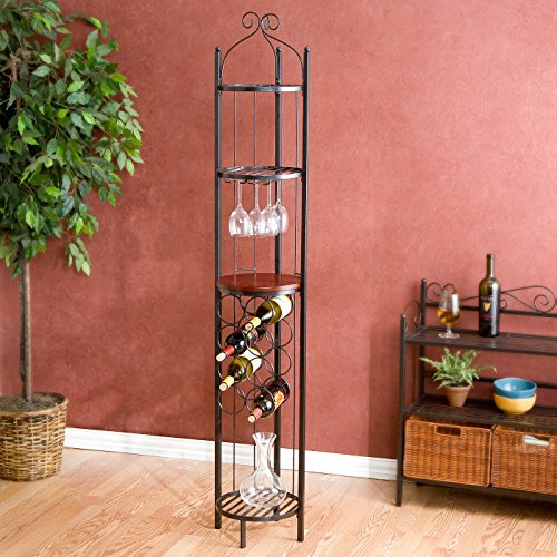 Tower Wine Rack - Cecelia Wine Rotunda, Gunmetal Gray