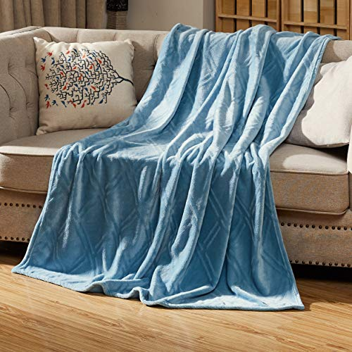 Homey Forte Breathable Lightweight Blanket for Summer Thin Comforter Quilt Cooling Blanket Faux Fur Chair Throw for Living Room [50