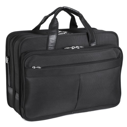 mckleinusa-walton-73985-black-expandable-double-compartment-laptop-case-w-removable-sleeve