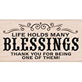 Hero Arts Many Blessings Woodblock Stamp