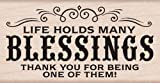 Hero Arts H5894 Many Blessings Woodblock Stamp