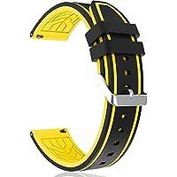 MEGIR Pulseira de silicone para relógio de substituição, modelo mergulhador, pulseira de silicone, linha à prova d'água…