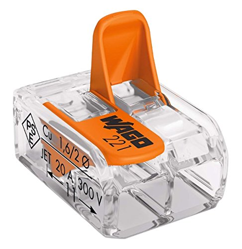 Wago WAG221342_BL10 Pack de 10 Bornes de connexion universelle tous conducteurs Type 221/2 entrées product image