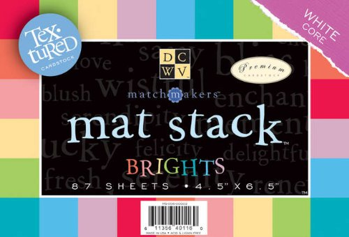 (Mat Stack 4.5x6.5 87/Pkg-Bright Texture Solids W/White Core )