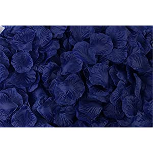 Helenhouse 1000 PCS Artificial Silk Flower Dark Blue Rose Petals for Wedding Party Bridal Decoration 47