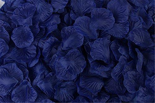 Helenhouse 1000 PCS Artificial Silk Flower Dark Blue Rose Petals for Wedding Party Bridal Decoration