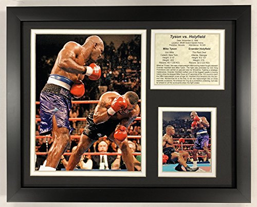 (Legends Never Die Mike Tyson Versus Evander Holyfield 1996 Framed Double Matted Photos, 12