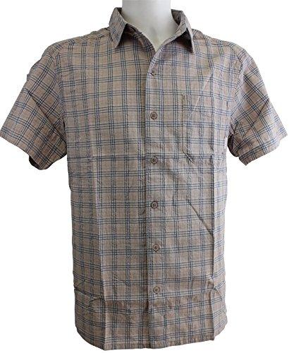 Columbia Herren Freizeit-Hemd BEIGE/BLEU/BLANC