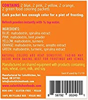 Amazon.com : ColorKitchen All Natural Food Coloring Packets (10 Pack ...