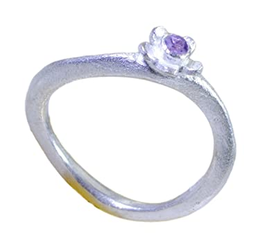 Real Amethyst Couples Promise Rings Sterling Silver Jewelry Size H,I,J,S,T,U,V,Z