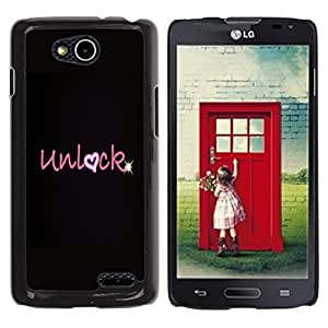 iKiki Tech / Estuche rígido - Heart Love Valentines Black Star - LG OPTIMUS L90 / D415