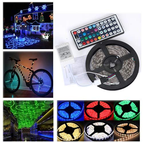 LED Colored Strip Lights,RGB Color Lamp Changing Kit with IR remote control,No Waterproof Flexible Tape Lights,Night String Lights Suspension Kit for Car Bike indoor Home Kitchen Closet Decor (1pcs) (Source Hours Chair)