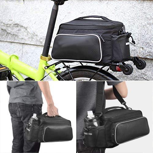 /nero Xphonew 12L mountain City strada MTB bici ciclismo sport outdoor impermeabile bicicletta sedile posteriore Pannier Trunk bag accessori borsa a tracolla borsa zaino con borraccia pacco/