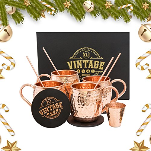 1941 Vintage Copper Moscow Mule Mugs Set By 100% Solid ...