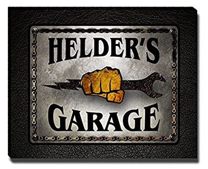 Garage Den Helder : Amazon helder s garage mechanic gallery wrapped canvas print
