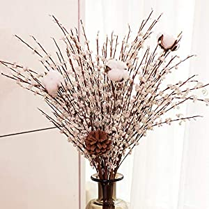 YUYAO 12 Pcs Artificial Jasmine Flowers Fake Long Flower Branches Dry Flowers for Wedding Home Office Party Decoration 34