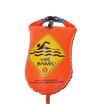 Boya de Natación estanca para nadadores de aguas abiertas (64 x 30 cm), 28 litros de capacidad: Amazon.es: Deportes y aire libre