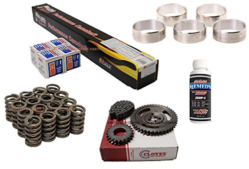 Chevy 350 Cams (Chevrolet 283 305 327 350 Chevy Camshaft Torque Cam & Lifter kit NEW Valve Springs Cam Bearings & DBL. Row Timing Set (Torque Cam))
