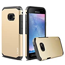 Galaxy Xcover 4 Case, J&D [ArmorBox] [Dual Layer] Hybrid Shock Proof Protective Rugged Case for Samsung Galaxy Xcover 4 (Gold)