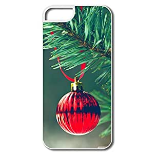 Christmas Red Ball Durable Plastic Case For IPhone 5/5s