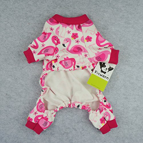 Fitwarm Flamingo Pet Clothes for Dog Pajamas PJS Shirts Jumpsuit Pink Small by Fitwarm (Image #4)