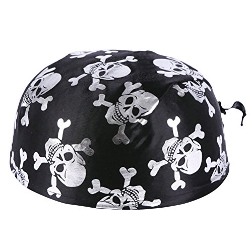 (Fun Pirate Costume Colonial Hats Skeleton Pattern Pirate Accessories for Halloween or Any Parties)