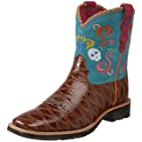 Ariat Showbaby Fiesta Western Boot (Toddler/Little Kid/Big Kid),Pecan Anteater Print/Teal,6 M US Big Kid