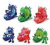 3pcs/set PJ Masks Slide Car Action Figure Toy G122391