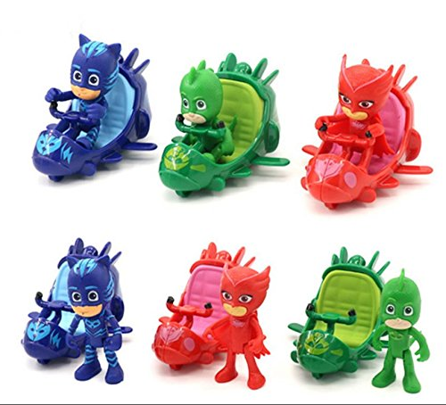 [3pcs/set PJ Masks Slide Car Action Figure Toy G122391] (Baby Werewolf Costume Uk)