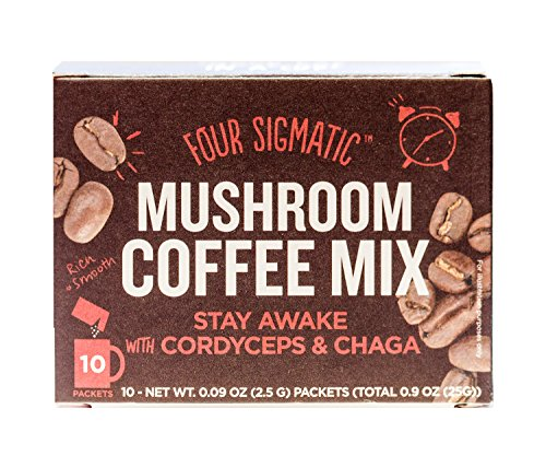 Four Sigmatic Mushroom Coffee with Cordyceps & Chaga, No Jitters, No Crashes,...