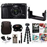 Fujifilm X-E3 Mirrorless Digital Camera w/XF23mm f/2 R WR Lens (Black) w/BLC Leather Case & Editing Software Bundle