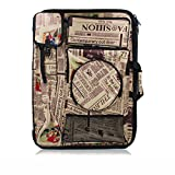 Liitrton Large Art Portfolio Carry Case Waterproof Artist Backpack Bag for Drawing Sketching Painting (Newspaper)
