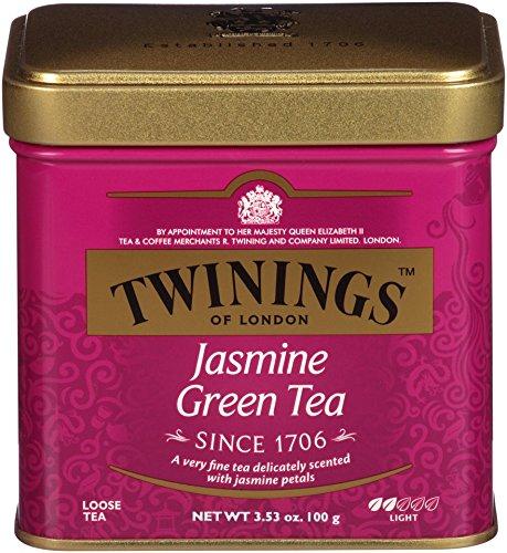Twinings Jasmine Green Tea, Loose Tea, 3.53-Ounce Tins (Pack of 6)