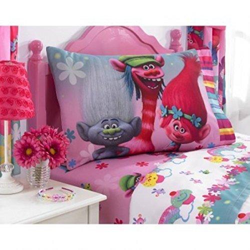 Hi-Tech MB705W Dreamworks Trolls Show Me a Smile Polyester Sheet Set