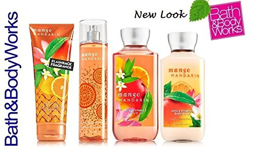 Bath & Body Works MANGO MANDARIN Gift Set - Body Lotion - Body Cream - Fragrance Mist & Shower - Wash Deluxe Body