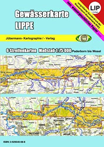 Gewässerkarte Lippe: Kanu-Wasserwanderkarte. 1:75000